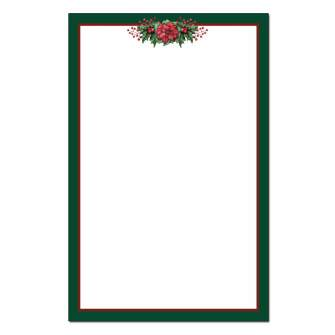 Poinsettia Valance Jumbo Cards 48pk