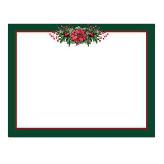 Poinsettia Valance Post Card 48pk