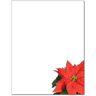 Poinsettia Letterhead - 25 pack