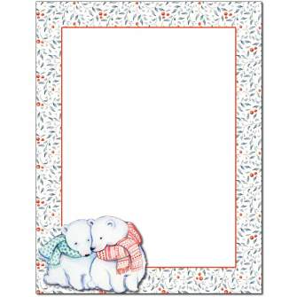 Polar Bears Letterhead - 25 pack
