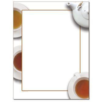 Pot of Tea Letterhead - 100 pack