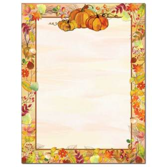 Pretty Pumpkins Letterhead - 25 pack