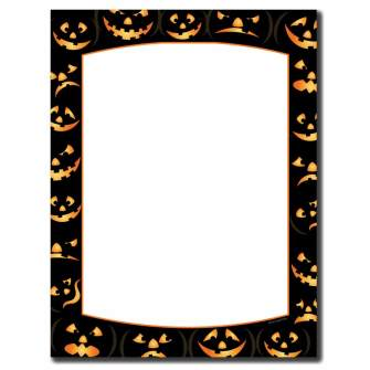 Pumpkin Faces Letterhead - 25 pack