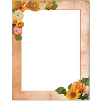 Pumpkin Patch Letterhead - 100 pack