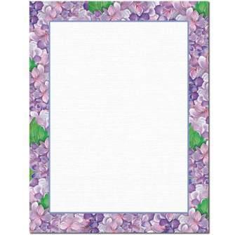 Purple Hydrangeas Letterhead - 25 pack