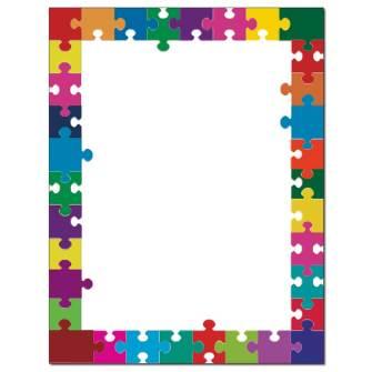 Puzzle Pieces Letterhead - 25 pack