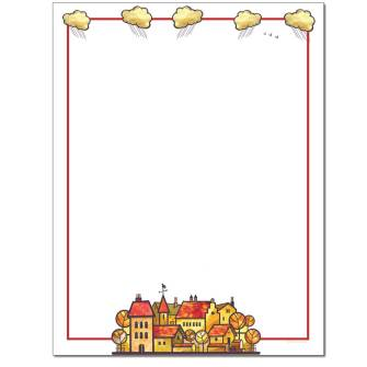 Quaint Village Letterhead - 25 pack