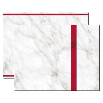 Red Marble Trifold Brochure