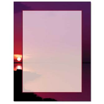 Red Sunset Letterhead - 25 pack