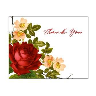 Rose Corner Thank You Card