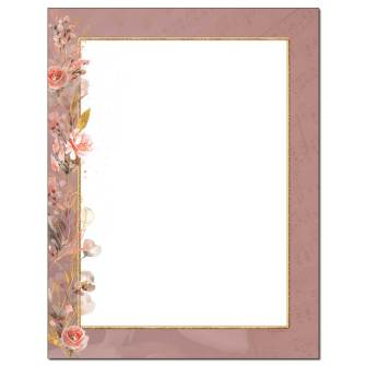 Rose Melody Letterhead - 25 pack