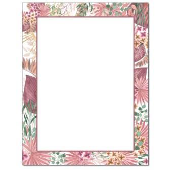 Rosy Foliage Letterhead - 25 pack