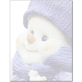 Snowman Smile Letterhead - 100 pack