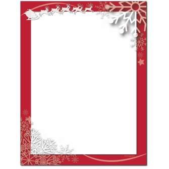 Santa Swirls Letterhead - 25 pack