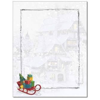 Santa's Sleigh Letterhead - 80 pack