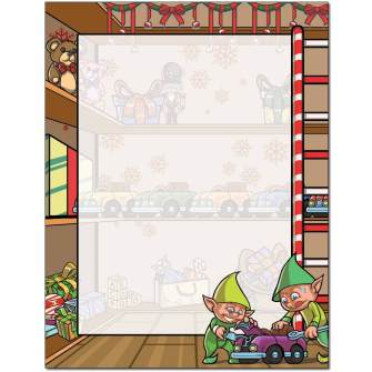 Santa's Workshop Letterhead - 100 pack