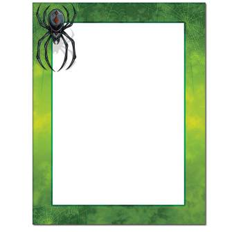 Scary Spider Letterhead - 25 pack