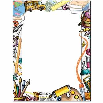 School Supplies Letterhead - 100 pack