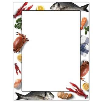 Seafood Letterhead - 25 pack