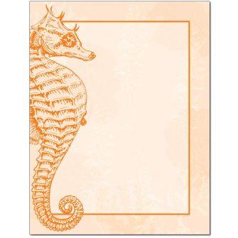 Seahorse Letterhead - 25 pack