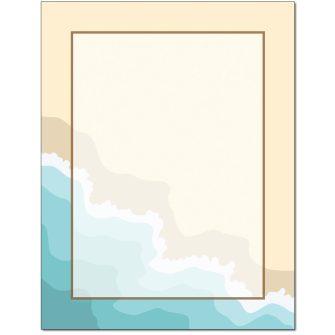 Seashore Letterhead - 25 pack