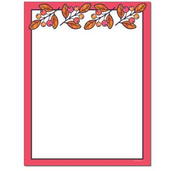 Seasonal Berries Letterhead