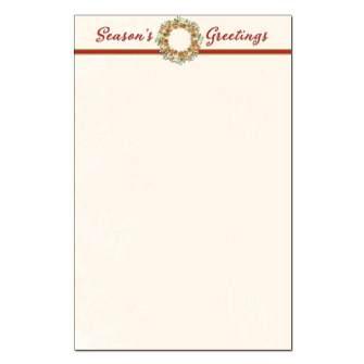 Season's Greetings Wreath Jumbo Card 48pk