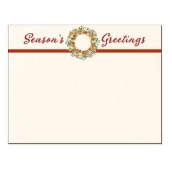 Season's Greetings Wreath Post Card 48pk
