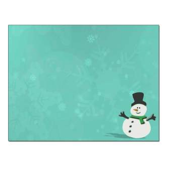 Silly Snowman Post Card 48pk