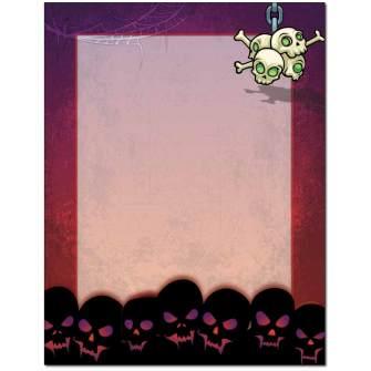 Skulls Letterhead - 100 pack