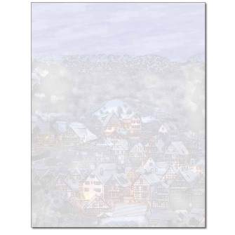 Sleepy Village Letterhead - 100 pack