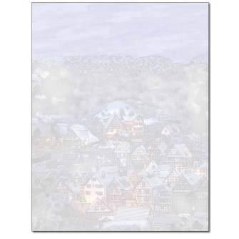 Sleepy Village Letterhead - 25 pack