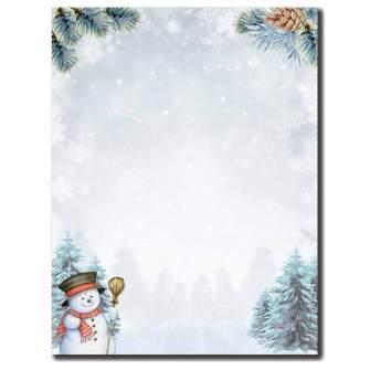 Smiling Snowman Letterhead - 25 pack