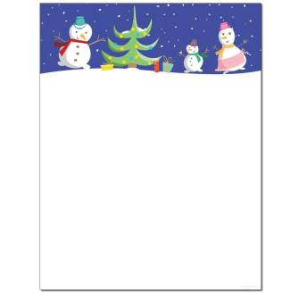 Snow Family Letterhead - 25 pack