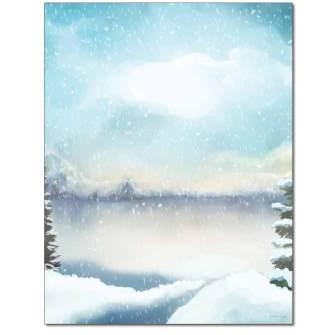Snowfall Letterhead - 100 pack