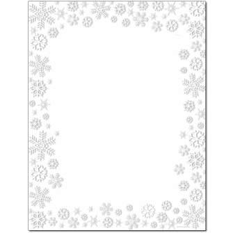Snowy Flakes Letterhead - 80 Pack