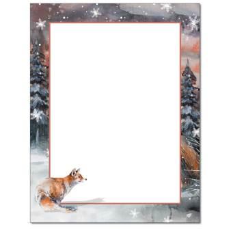 Snowy Fox Letterhead - 25 pack