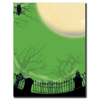 Spooky Graveyard Letterhead - 100 pack
