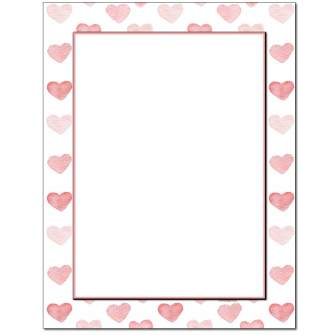 Stamped Hearts Letterhead - 25 pack