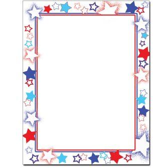 Patriotic Stars Letterhead - 25 pack