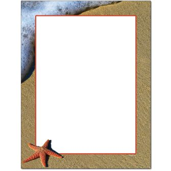 Starfish Letterhead - 100 pack
