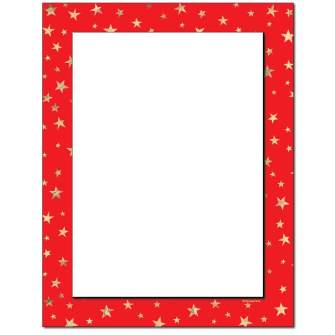 Starry Border Letterhead - 25 pack