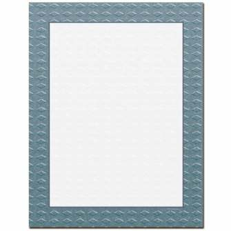 Steel Border Letterhead - 25 pack