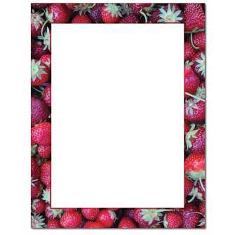Strawberry Basket Letterhead - 100 pack