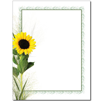 Sunflower Letterhead - 100 pack