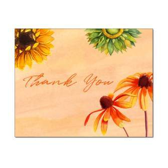 Sunny Flowers Thank You Note Card
