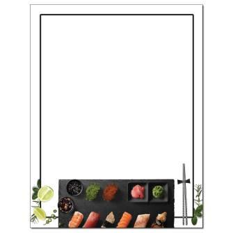 Sushi Letterhead - 25 pack