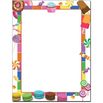 Sweet Treats Letterhead - 25 pack