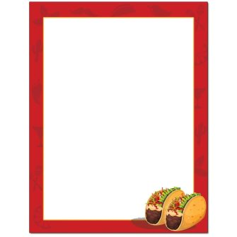 Taco Tuesday Letterhead - 25 pack