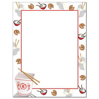 Takeout Letterhead - 25 pack